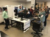 Training Workshop in the Cal Academy Project Lab showing the ease of use of the YXLON FF20 CT system