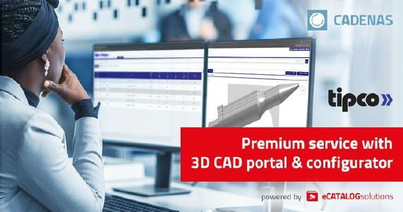 Tipco Inc. launches 3D CAD product catalog powered by CADENAS with precision tooling components