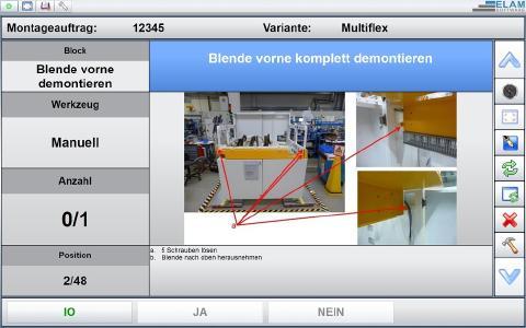 Optimierung von Produktionsprozessen bei der Einführung von ELAM. Hier eine beispielhafte Arbeitsanweisung.