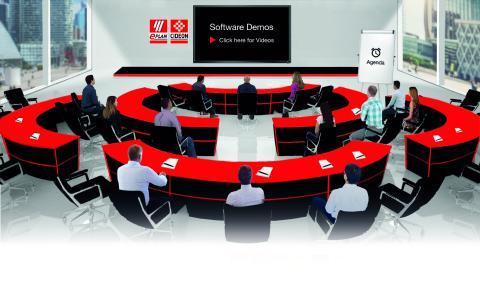 Anwender konnten in WebEx-Demos die brandneuen Lösungen Eplan Cogineer und Syngineer wie auch weitere Angebote aus dem Portfolio der Engineering-Spezialisten live erleben / Quelle: Eplan Software & Service GmbH & Co. KG