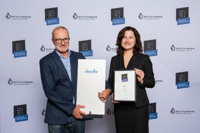 Lüftungssystem freeAir gewinnt ICONIC AWARD: Innovative Architecture