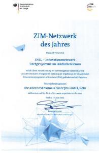 Die Auszeichnung zum ZIM-Netzwerk des Jahres