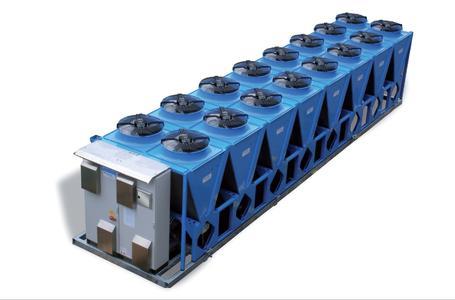 Quantum luftgekühlt mit 16 Ventilatoren, Nennkälteleistung bis 1.000 kW