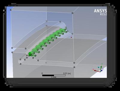 MultiZone-Technologie beim Meshing in ANSYS 15.0 erlaubt die automatische Erzeugung von konformen Swept-Mesh-Hexaeder-Gittern in hoher Qualität für Geometrien mit mehreren Körpern, die unterschiedliche Sweep-Richtungen aufweisen