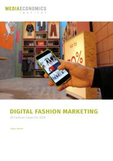 Neue Fallstudiensammlung zum digitalen Fashion Marketing