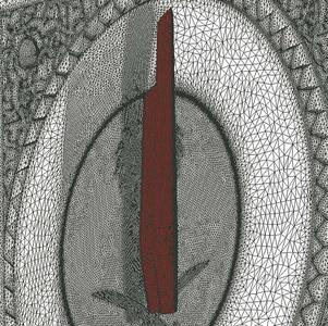 Mecca clock; 2D surface mesh of the clock hands ©SL Rasch