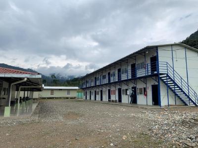 Abbildung 1- Für den Bau von El Domo erworbene Lagereinrichtungen, einschließlich Unterkünften für 100 Mitarbeiter