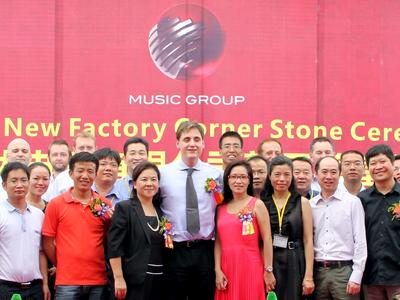 Cornerstone ceremony with local representatives opens a new chapter in MUSIC Group history
