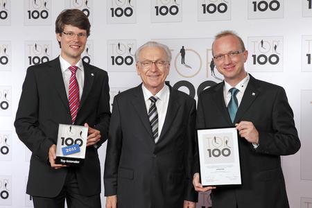 v.l.n.r. Steffen Schleier (Projektmanager profichip GmbH), Lothar Späth, Stefan Rübesam (ASIC Design Manager)
