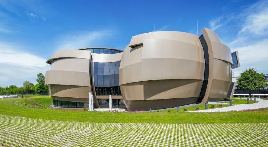 Das Besucherzentrum des ESO Supernova Planetariums in Garching/München.