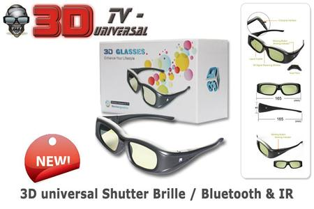3D universal Active TV-Shutter Brille (Bluetooth & Infrarot)