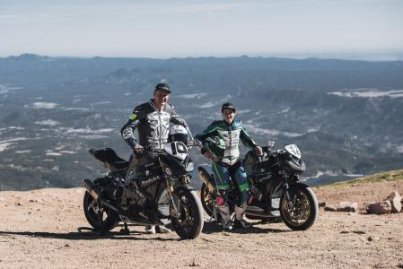 Thilo Günther #10 & Lucy Glöckner #12 on Wunderlich BMW S 1000 R at Pikes Peak (Image: Wunderlich)