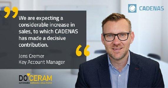 CADENAS的3D CAD门户网站让DOCERAM销售额大幅增长