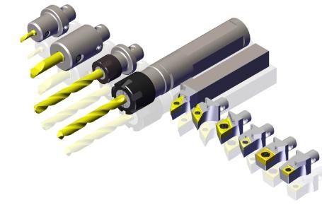 Neues, modulares Schnellwechselsystem SWISS-MICRO für den Werkzeugwechsel beim Langdrehen von Swiss Tools Systems AG