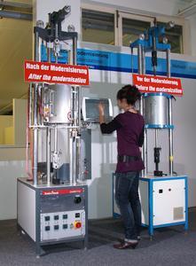 Modernisierte Dauerstandsprüfmaschinen