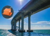 Sensoren von ASC überwachen auch die Standsicherheit der längsten Seebrücke der Welt zwischen Hong Kong und Macau. Foto: tmlau/fotolia.com/Montage: K+P