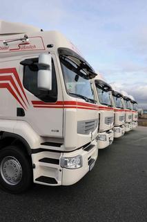 Die neuen Renault Premium der Spedition Süßmilch verfügen über 460 PS und erfüllen den EEV-Standard