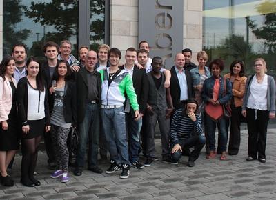 Einige der CEMA-Stipendiaten, die Ihren Abschluss an der Abendakademie Mannheim erfolgreich absolviert haben