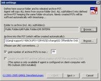 Die Archivierungsaufträge lassen sich beim OLXArchive2PST Agent detailliert einstellen.
