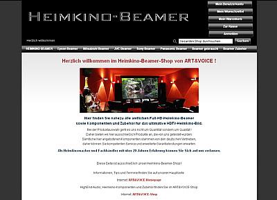 Heimkino Beamer Shop Screen