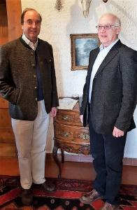 Dr. Alexander Schenk Graf von Stauffenberg mit Dipl. Ing Christian Rosin, Berater von Energiesysteme 360° und ehemaliger ThyssenKrupp Manager