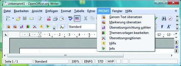 @promt 7.8 - Integration in OpenOffice