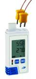 LOG210 TC Datenlogger mit Display für Temperatur (1x intern + 2x extern) und Feuchtemessung, mit einstellbarem Schimmelalarm, erzeugt automatisch PDF-Datei