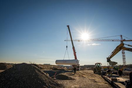 Impression von der Baustelle des neuen Rechenzentrums in Aschheim / Bildquelle: MOKATI Fotos und Film OHG