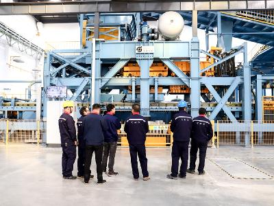 Impressive line: The team in Nantong can produce up to 40,000 tons of cast iron parts annually