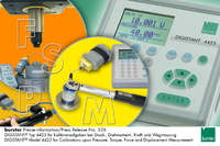 Industrial Applications and Calibration Tasks upon Pressure, Torque, Force and Displacement Measurement