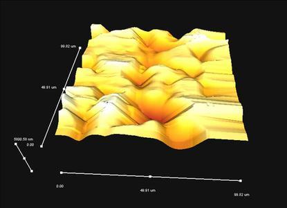 Oberflaechenstruktur PP Mikromagnetit