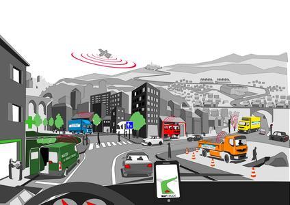 Als Partner des Optimod'Lyon-Forschungsprojektes entwickelt Renault Trucks neue Kommunikationsmittel zur Entlastung der Stadtzentren von Verkehrsbeeinträchtigungen