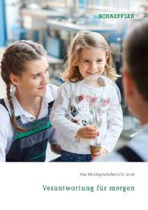 Nachhaltigkeitsbericht 2016 der Schaeffler Gruppe, Foto: Schaeffler
