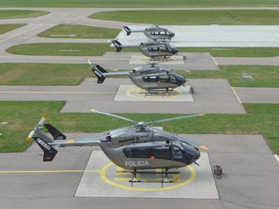 the national police of peru receives its first eurocopter ec145