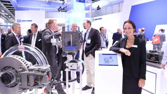 At InnoTrans 2016 Knorr-Bremse presented a broad cross-section of its product portfolio on five booths covering 800 square meters / © Knorr-Bremse