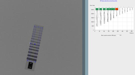 Y.FGUI Quality Toolkit, determination of spatial resolution