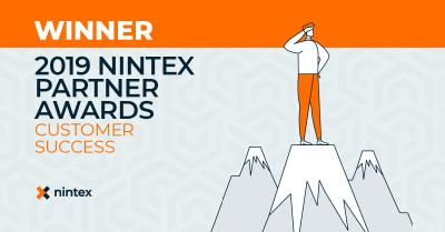 Data One gewinnt den Nintex Partner Award 2019 in der Kategorie Customer Success
