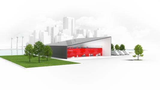 Mithilfe der energieeffizienten Automationslösung von AutoStore können vorhandene Flächen und Gebäude optimaler genutzt werden - auch in urbanen Räumen und für mehrere Kontraktlogistik-Kunden gleichzeitig.