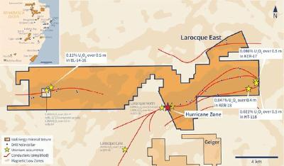 IsoEnergy Intersects 8.5m of 33.9% U3O8, Including 5.0m of 57.1% U3O8 at the Hurricane Zone and Expands Drill Program