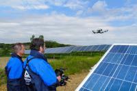 Prüfung einer Solaranlage mit Drohne