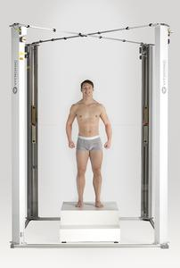 The body scanner Vitus generates a precise 3D image in just 12 seconds.