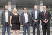 von links: Christian Wieck, Andrea Scholz, Robert Luther, Torsten Müller, Dr. Andreas Schmidt