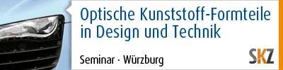 Optische Kunststoff-Formteile in Design und Technik