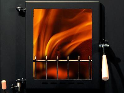Detailansicht Brennraumtür