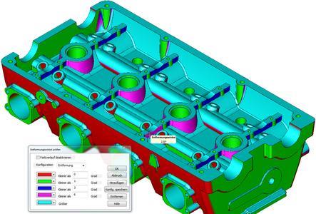 Leistungsstarke Analysefunktionen von KeyView für den Werkzeug- und Formenbau