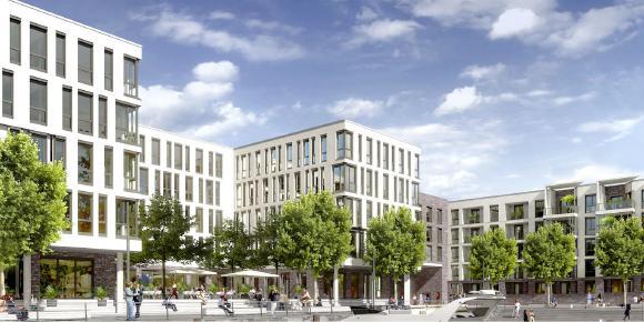 Bürogebäude der dtms GmbH in Mainz, Quelle: Rheinpromenade Mainz GmbH & Co. KG