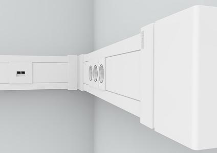 Die neue Brüstungskanal-Generation SIGNA BASE überzeugt durch besondere Belastbarkeit, Funktionalität und elegante Optik