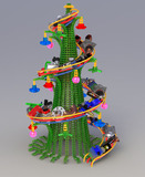 The winning Xmas tree of the 2009 contest.