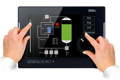 Industrial PCs der neuen OPC8000 Serie mit Multi-Touch von ads-tec