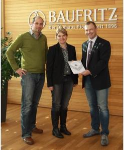 Von links nach rechts: Stefan Schindele, Gesundheitsexperte Baufritz, Dagmar Fritz-Kramer, Baufritz-Geschäftsführerin und Dr. Mario Blei vom Institut für Innenraumtoxikologie